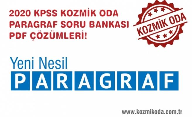 KOZMİK ODA KPSS PARAGRAF SORU BANKASI PDF ÇÖZÜMLERİ