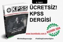 KOZMİK ODA KPSS GYGK HAZIRLIK DERGİSİ'NİN 5. SAYISI!