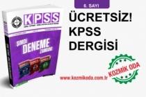 KOZMİK ODA KPSS GYGK HAZIRLIK DERGİSİ'NİN 6. SAYISI!