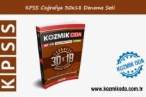 2021 KPSS KOZMİK ODA GENEL KÜLTÜR 30X18 COĞRAFYA DENEME SETİ ÇÖZÜMLERİ