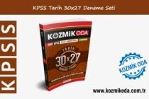 KPSS KOZMİK ODA GENEL KÜLTÜR 30X27 TARİH DENEME SETİ ÇÖZÜMLERİ