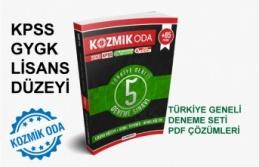 TÜRKİYE GENELİ 2020 KPSS 5'Lİ GYGK DENEME...
