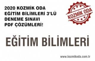 3'LÜ EĞİTİM BİLİMLERİ DENEME SINAVI ÇÖZÜM...