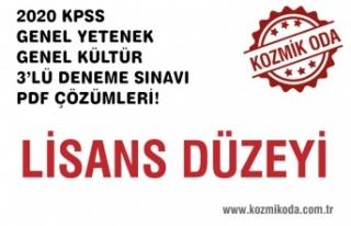 3'LÜ LİSANS DÜZEYİ KPSS DENEME SINAVI ÇÖZÜM...