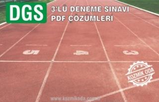2020 DGS 3'LÜ DENEME PDF ÇÖZÜMLERİ
