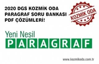 KOZMİK ODA 2020 DGS PARAGRAF SORU BANKASI PDF ÇÖZÜMLERİ