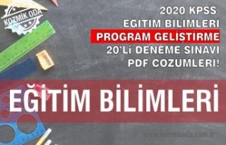 PROGRAM GELİŞTİRME DENEME SINAVI ÇÖZÜM PDF'Sİ