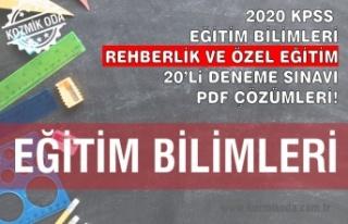 REHBERLİK VE ÖZEL EĞİTİM DENEME SINAVI ÇÖZÜM...