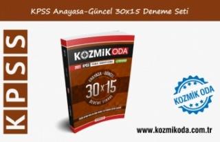 2021 KPSS KOZMİK ODA GENEL KÜLTÜR 30X15 ANAYASA-GÜNCEL...