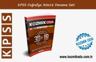 2021 KPSS KOZMİK ODA GENEL KÜLTÜR 30X18 COĞRAFYA...