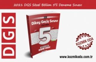 YENİ DGS HAZIRLIK 5'Lİ SÖZEL DENEME SINAVI...
