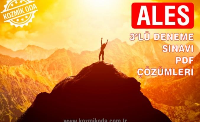 2020 ALES 3'LÜ DENEME PDF ÇÖZÜMLERİ