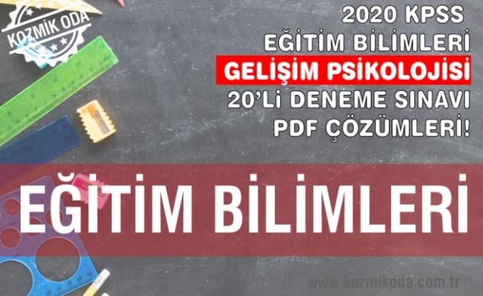 GELİŞİM PSİKOLOJİSİ DENEME SINAVI ÇÖZÜM PDF'Sİ