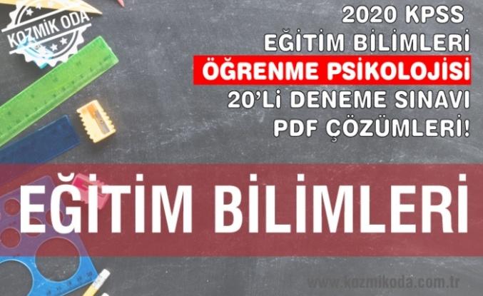 ÖĞRENME PSİKOLOJİSİ DENEME SINAVI ÇÖZÜM PDF'Sİ