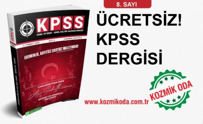 KOZMİK ODA KPSS GYGK HAZIRLIK DERGİSİ'NİN 8. SAYISI!